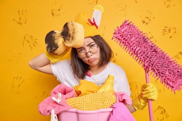 Conceito de limpeza doméstica