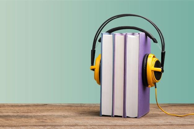 Conceito de livro de áudio