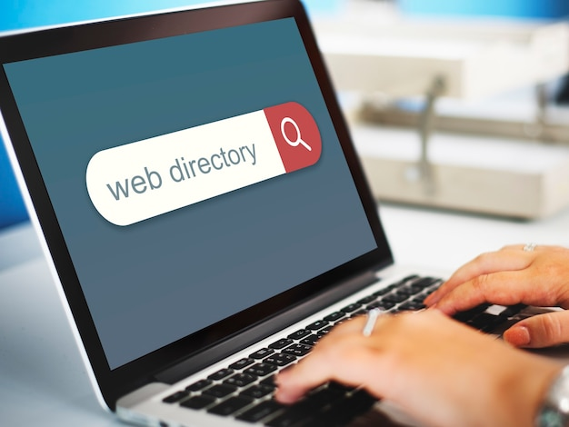 Conceito de localização do navegador do mecanismo de pesquisa do diretório da web
