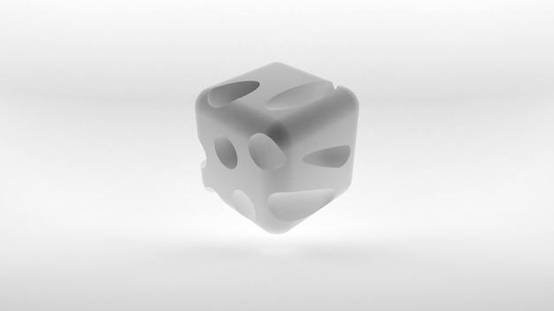 Conceito de logotipo isométrico de cubo em fundo branco. renderização 3d.