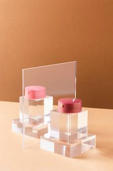Conceito de maquiagem com blush