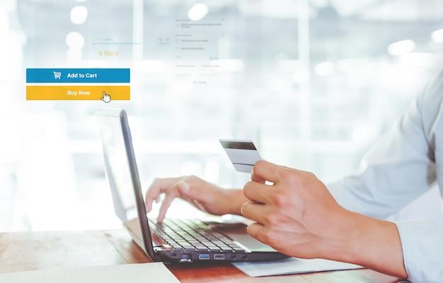 Conceito de marketing de negócios online