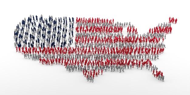 Conceito de matéria de vidas negras. ilustração com a bandeira dos estados unidos da américa. renderização 3d