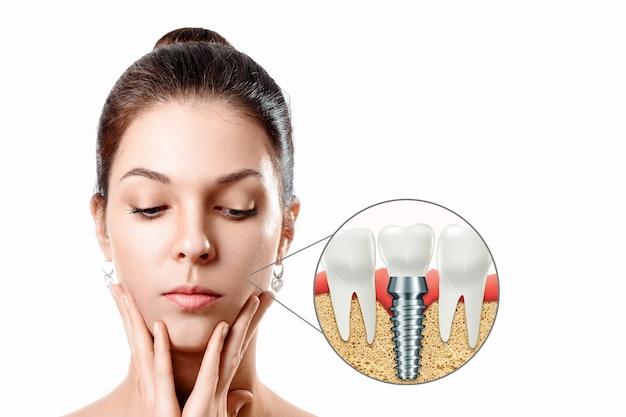 Conceito de medicina, novas tecnologias, substituição de dentes, dentaduras