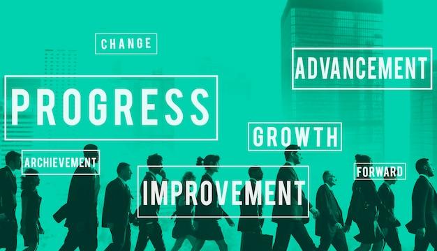 Conceito de melhoria de inovação de desenvolvimento de progresso