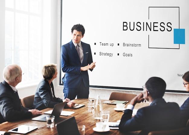 Conceito de metas de estratégia de startups de negócios