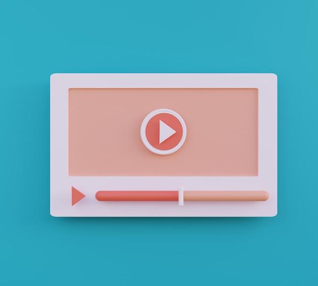 Conceito de mídia social da web do reprodutor de vídeo ilustração do ícone de reprodução de vídeo