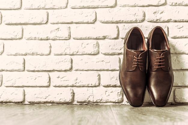 Conceito de moda com sapatos masculinos