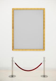 Conceito de moldura antiga de galeria de arte