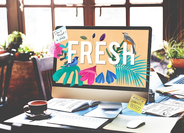 Conceito de motivação yolo free happy fresh