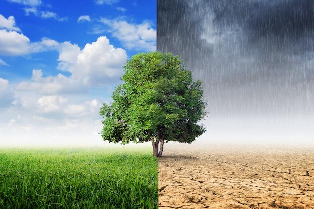 Conceito de mudança climática.