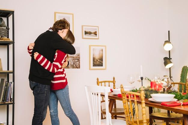 Conceito de natal e abraço