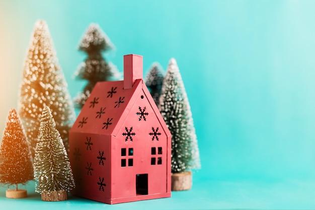 Conceito de natal e newyear com arranjo de itens de decoração