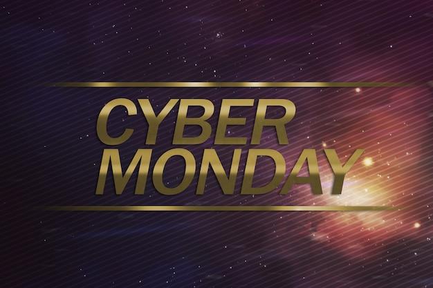 Conceito de negócio cyber segunda-feira