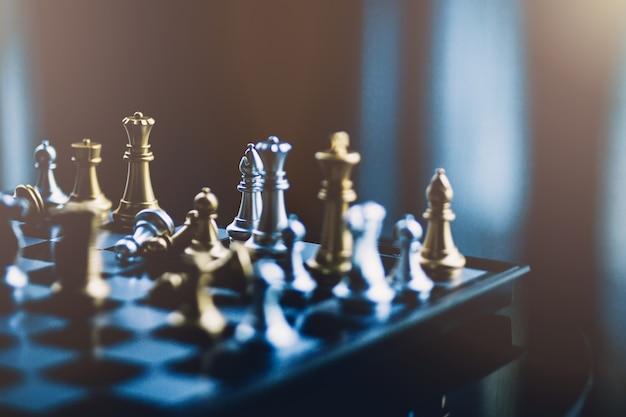Conceito de negócio de competição de jogo de tabuleiro de xadrez