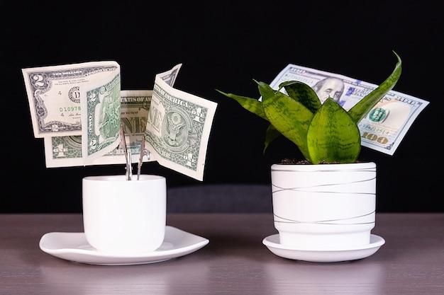 Conceito de negócio de depósitos e lucro