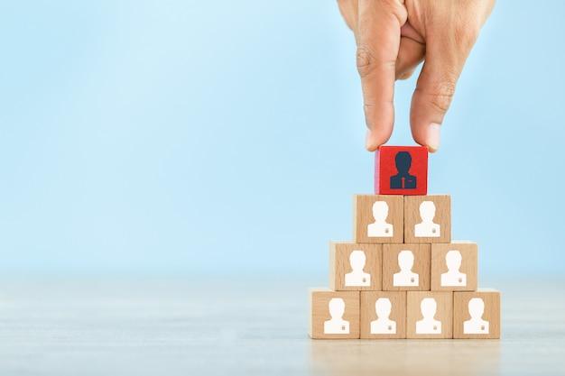 Conceito de negócio de gestão e recrutamento de recursos humanos