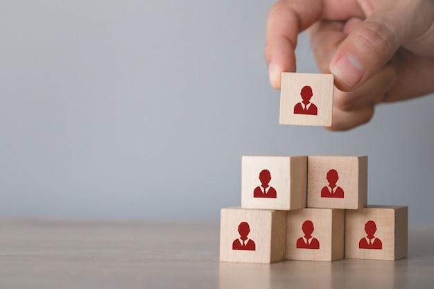 Conceito de negócio de gestão e recrutamento de recursos humanos.