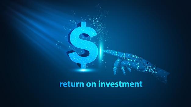 Conceito de negócio inteligência artificial e dinheiro