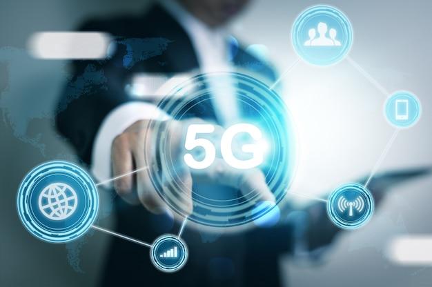 Conceito de negócio sem fio móvel de internet de rede