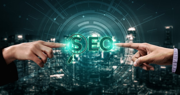 Conceito de negócio seo search engine optimization