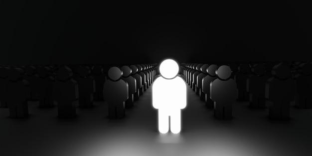 Conceito de negócio, tecnologia, internet e rede. conceito de headhunting de recrutamento de gerenciamento de rh de recursos humanos.