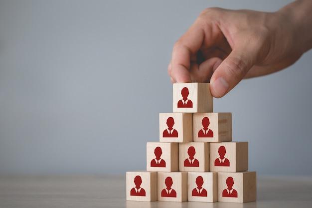 Conceito de negócios de gerenciamento e recrutamento de recursos humanos, estratégia de negócios para ter sucesso nas práticas de negócios altamente ativas de hoje