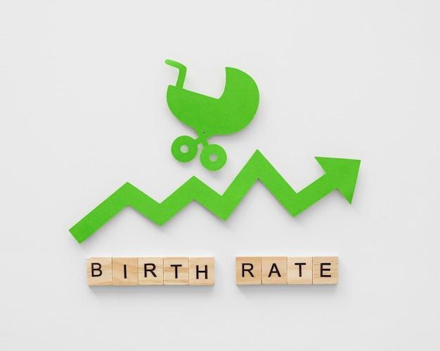 Conceito de nível de fertilidade de taxa de natalidade