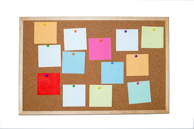 Conceito de notas, metas, memorando ou plano de ação