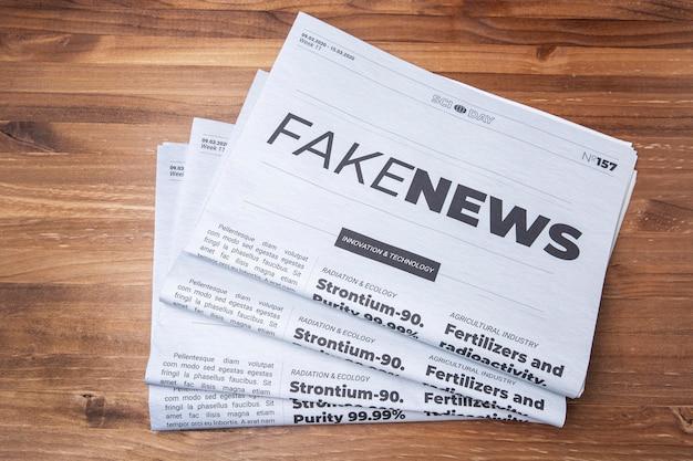 Conceito de notícias falsas