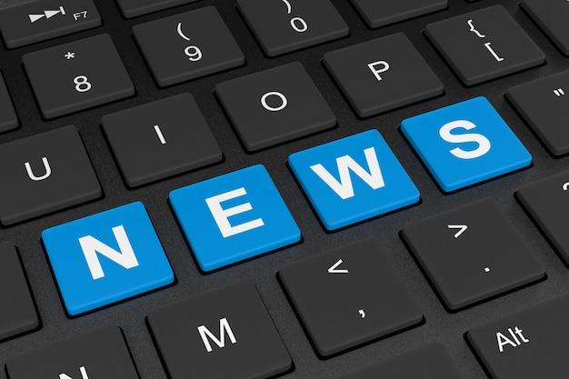Conceito de notícias on-line