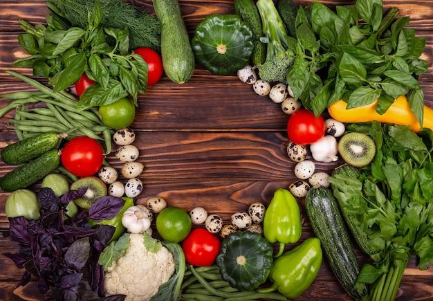 Conceito de nutrição dieta saudável layout de alimentação saudável