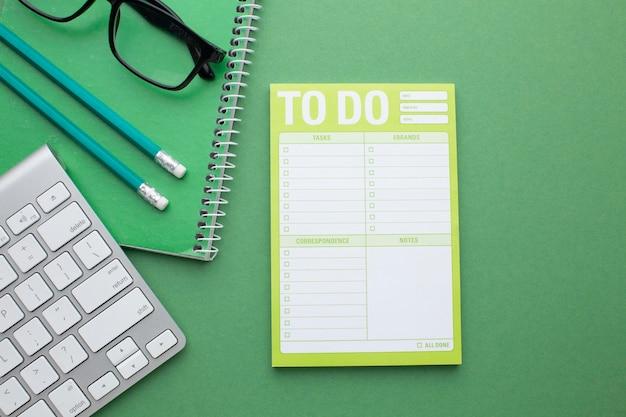 Conceito de organização de tempo com planejador