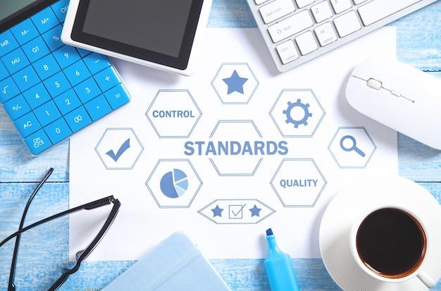 Conceito de padrões com objetos de negócios. controle de qualidade. conceito de negócios