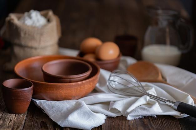 Conceito de pão caseiro em padaria caseira