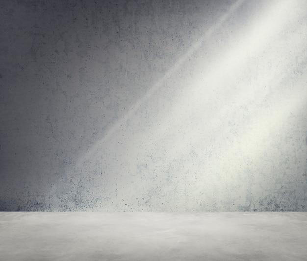 Conceito de papel de parede de luz solar de canto de sala de concreto