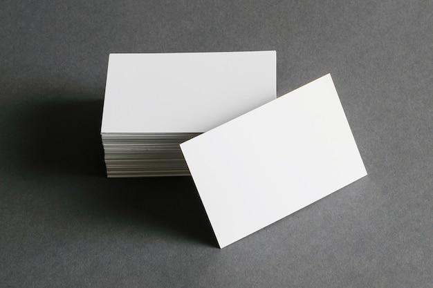 Conceito de papelaria cartão de visita