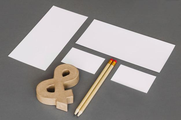 Conceito de papelaria moderno