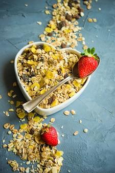 Conceito de pequeno-almoço saudável