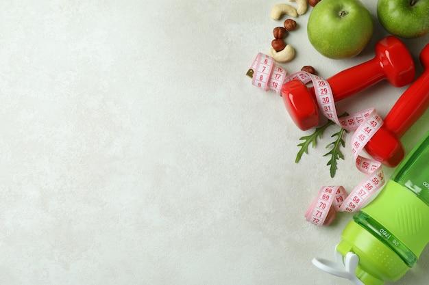 Conceito de perda de peso em branco texturizado