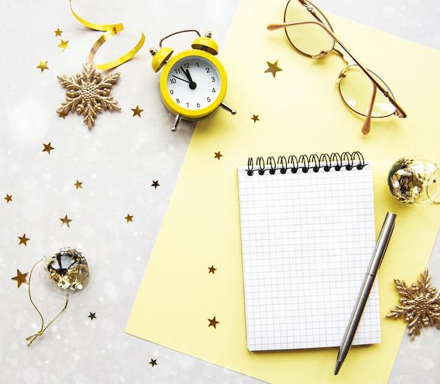 Conceito de planejamento de ano novo