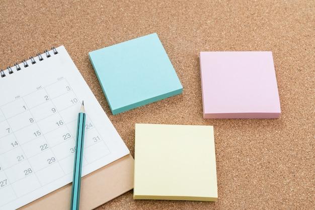 Conceito de planejamento de reunião, compromisso e programação, memorando ou cronograma do projeto
