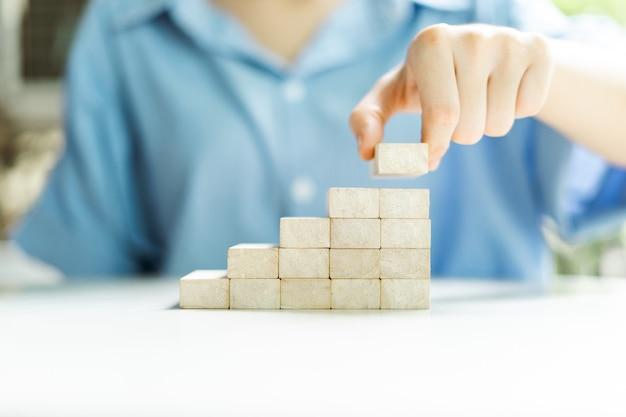 Conceito de planejamento e construção de negócios para alcançar o sucesso