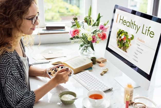 Conceito de plano de dieta saudável de nutrição