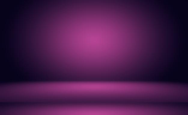 Conceito de plano de fundo do estúdio - abstrato vazio luz gradiente roxo estúdio quarto fundo para o produto. plano de fundo liso do estúdio.