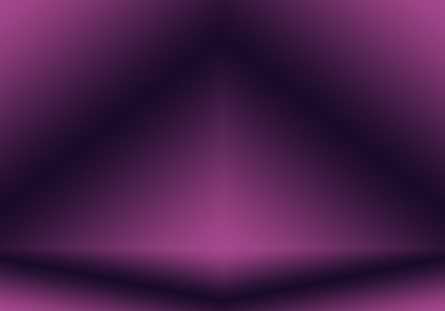 Conceito de plano de fundo do estúdio - abstrato vazio luz gradiente roxo estúdio quarto fundo para o produto.