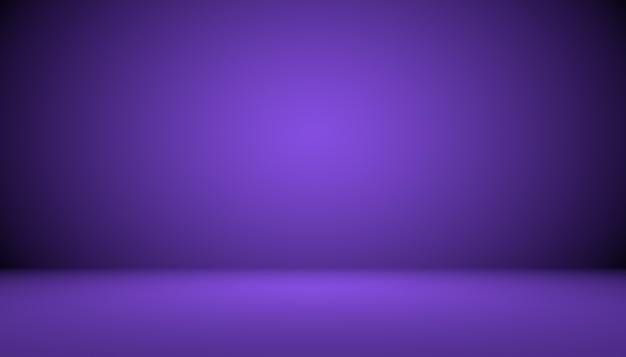 Conceito de plano de fundo do estúdio - fundo escuro do quarto do estúdio roxo do gradiente para o produto.