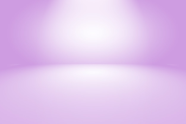Conceito de plano de fundo do estúdio - fundo roxo gradiente de luz vazio abstrato