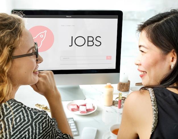 Conceito de plano de lançamento de novos negócios de empregos