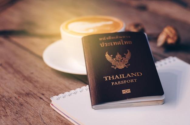 Conceito de plano de viagem para passaporte